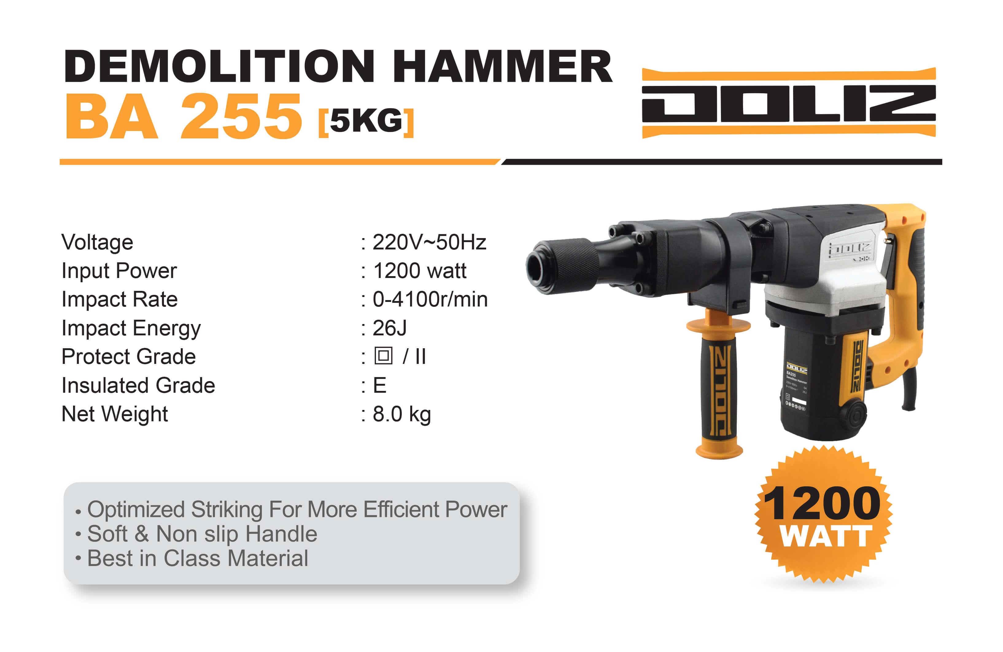 doliz demolition hammer ba 255