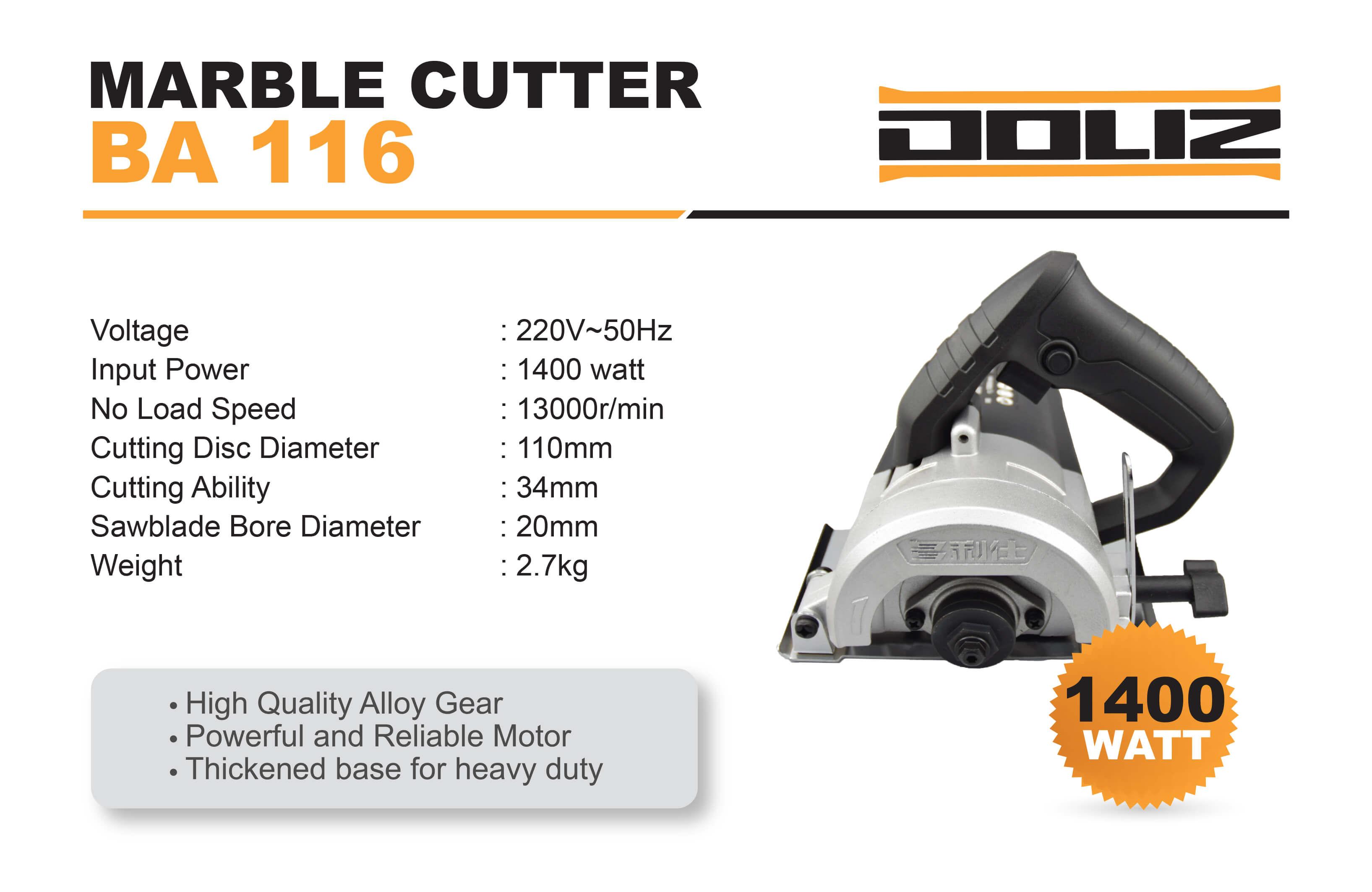 doliz cutting marble cutter ba 116